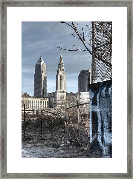 Broken Fences - Portrait Framed Print