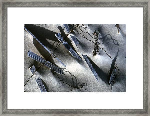 Broken Fences Framed Print