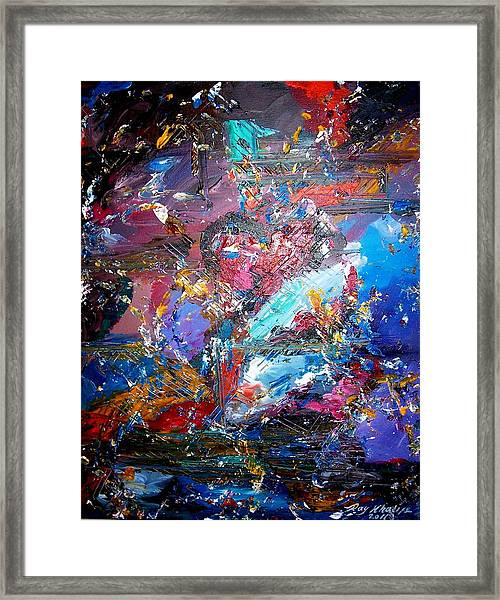 Framed Print featuring the painting Broken Heart by Ray Khalife