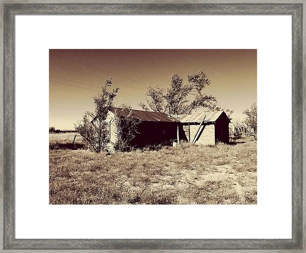 Broken Homestead Framed Print