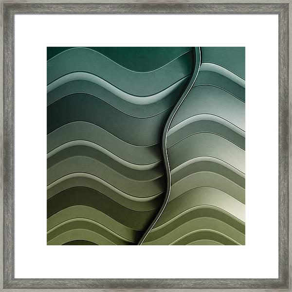 Broken Waves Framed Print by Luc Vangindertael