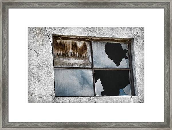 Broken Window Broken Glass Framed Print