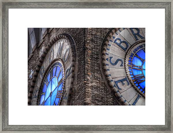 Bromo Seltzer Tower Clock Face #2 Framed Print