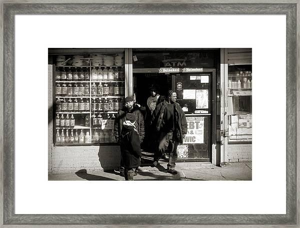 Bronx Scene Framed Print