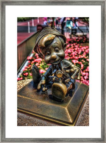 Bronze Boy Framed Print
