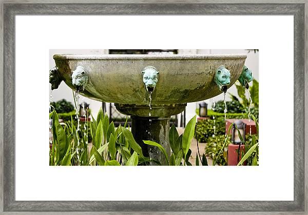 Bronze Civit Head Fountain Framed Print