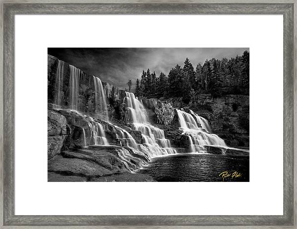 Brooding Gooseberry Falls Framed Print