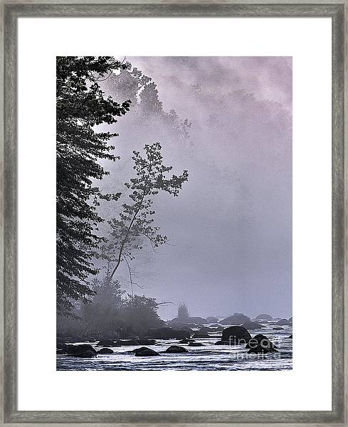 Brooding River Framed Print