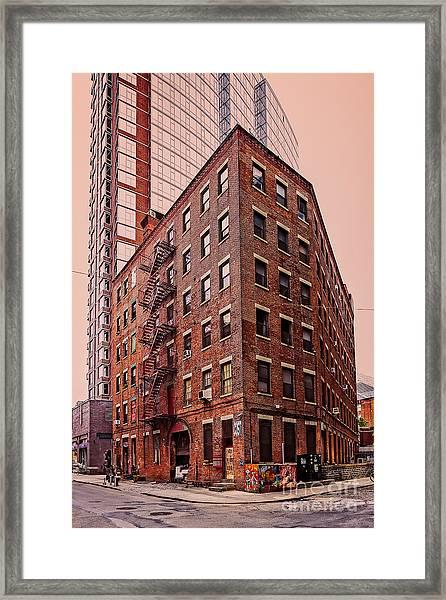 Brooklyn Apartments Framed Print