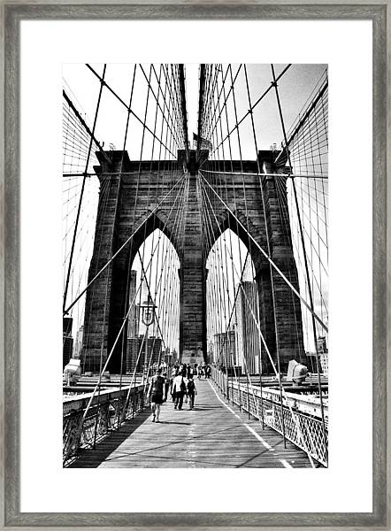 Brooklyn Bridge 2 Framed Print by Andrew Dinh