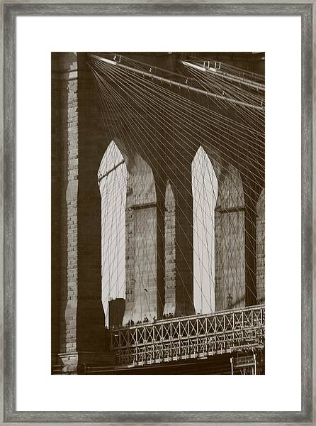 Brooklyn Bridge Afternoon Framed Print