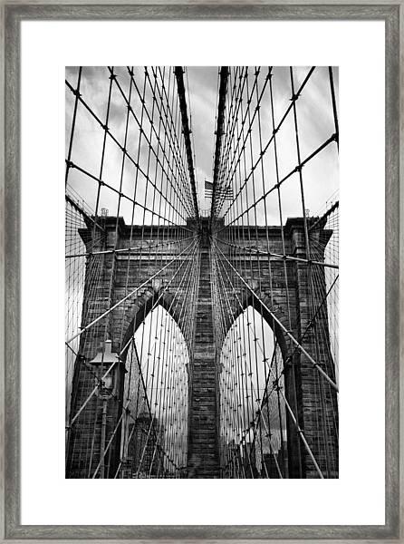 Brooklyn Bridge Mood Framed Print