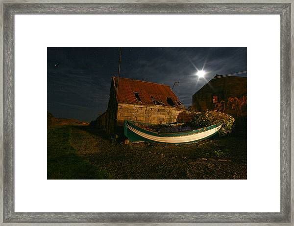 Brora Boat House Framed Print