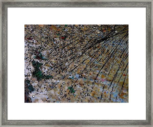 Brown Splatter Framed Print