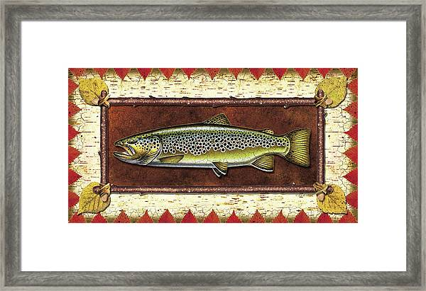 Brown Trout Lodge Framed Print