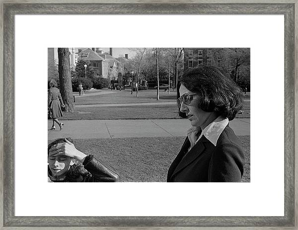 Brown University Student And His Mother, 1975 Framed Print