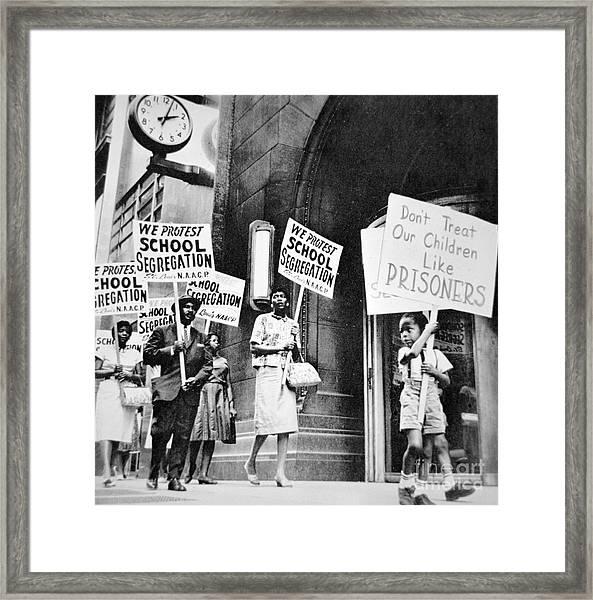 Brown Vs Board Of Education Framed Print by American School