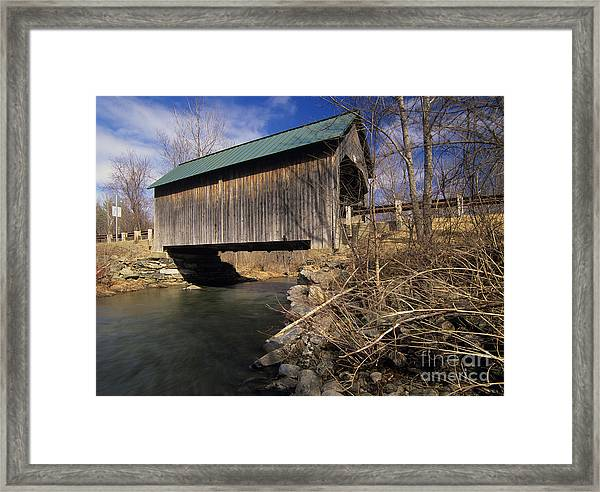 Brownsville Covered Bridge - Brownsville Vermont Framed Print