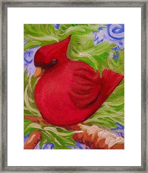 Brrr Bird Framed Print
