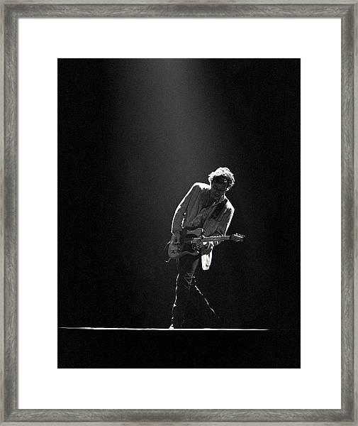 Bruce Springsteen In The Spotlight Framed Print