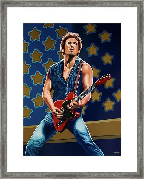 Bruce Springsteen The Boss Painting Framed Print