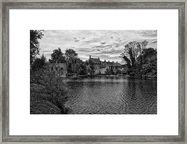 Bruges Bw1 Framed Print
