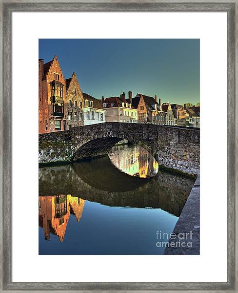 Bruges Twighlight Framed Print