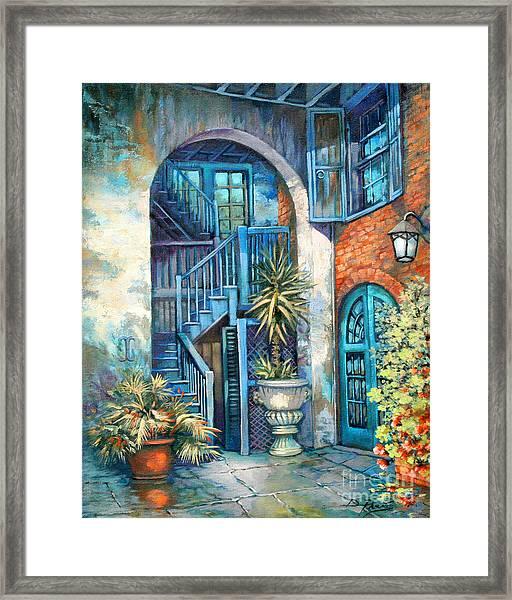 Brulatour Courtyard Framed Print