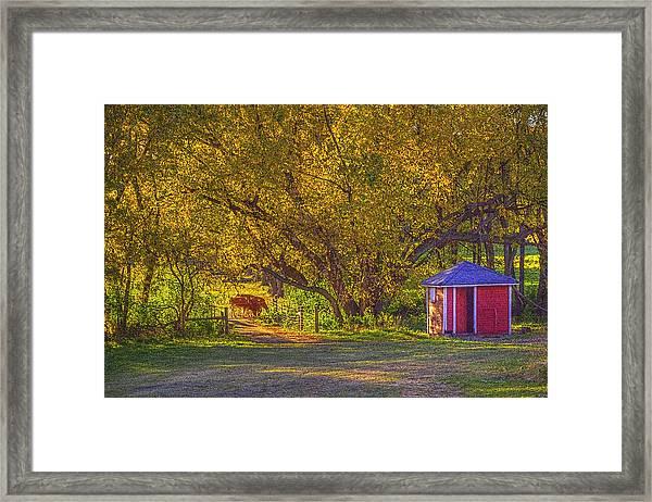 Brunner Organic Family Farm Framed Print