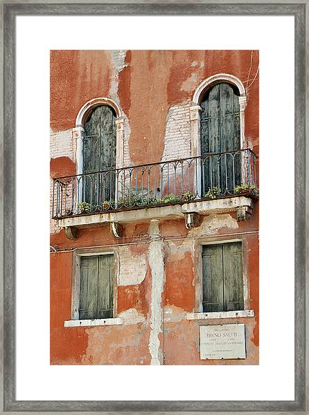 Bruno Saetti Worked Here Framed Print