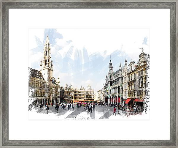 Brussels Grote Markt  Framed Print