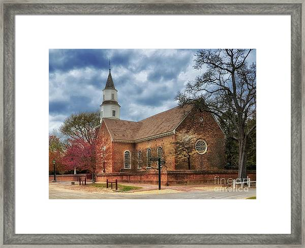 Framed Print featuring the photograph Bruton Parish Church by Lois Bryan
