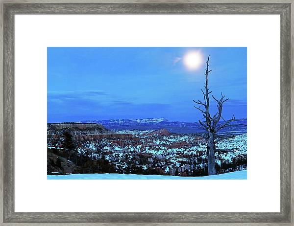 Bryce Blue Framed Print