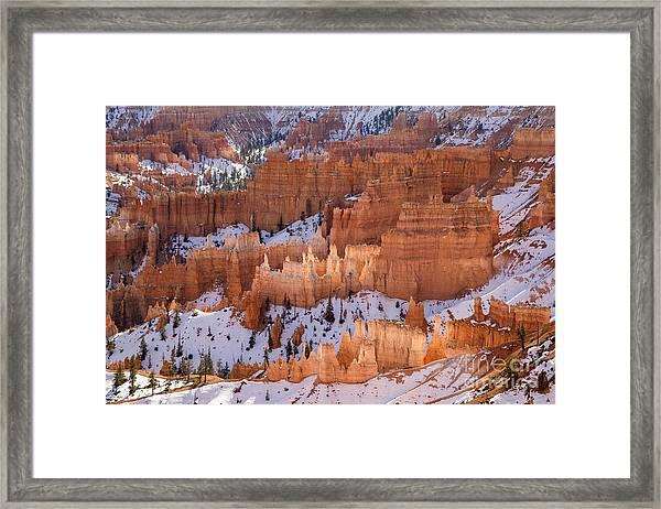 Bryce Canyon Hoodoos Framed Print by Julia Hiebaum
