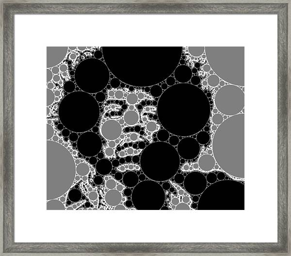 Bubble Art Rock Star Framed Print
