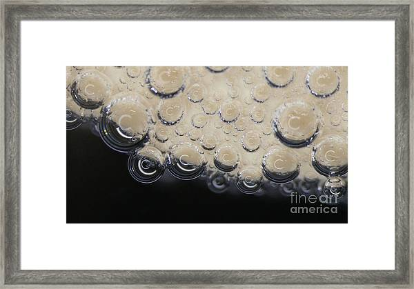 Bubbling On Egg Shell Framed Print