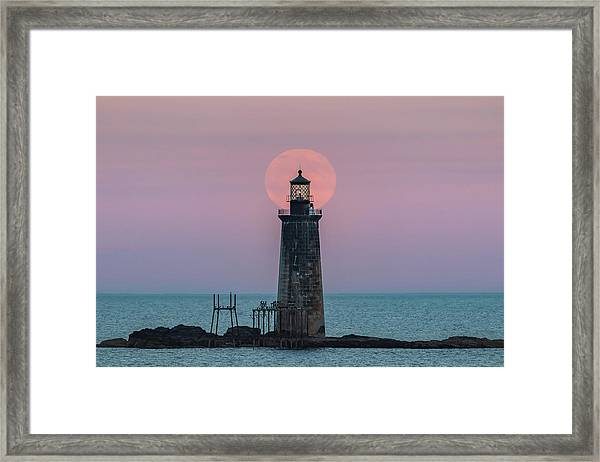 Buck Moon Rising Framed Print
