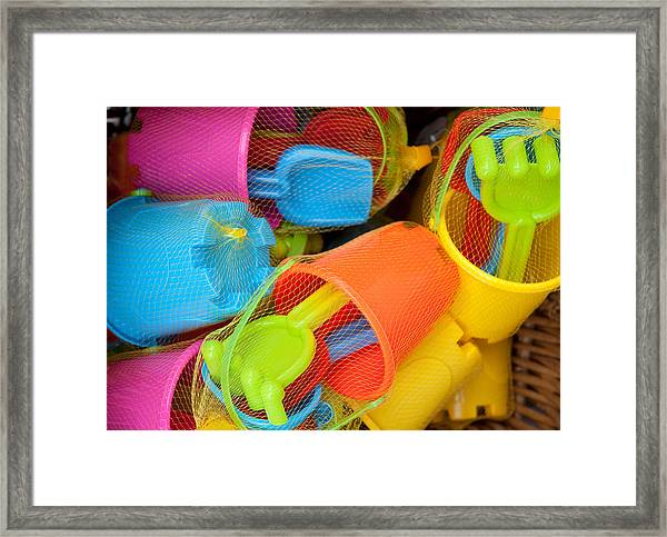 Buckets And Spades Framed Print