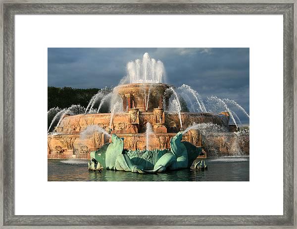 Buckingham Fountain Framed Print