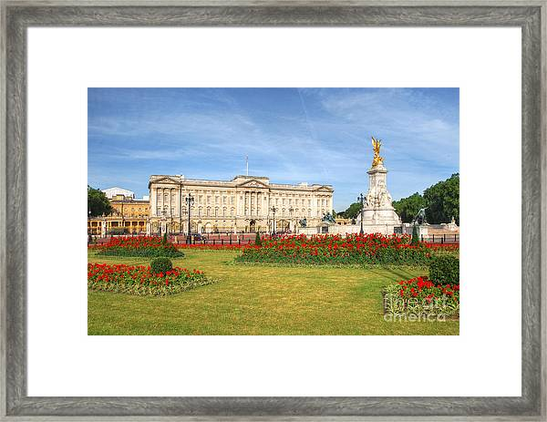 Buckingham Palace And Garden Framed Print