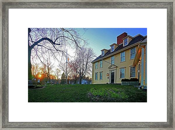 Buckman Tavern At Sunset Framed Print