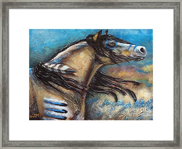 Buckskin Bell Blues Framed Print