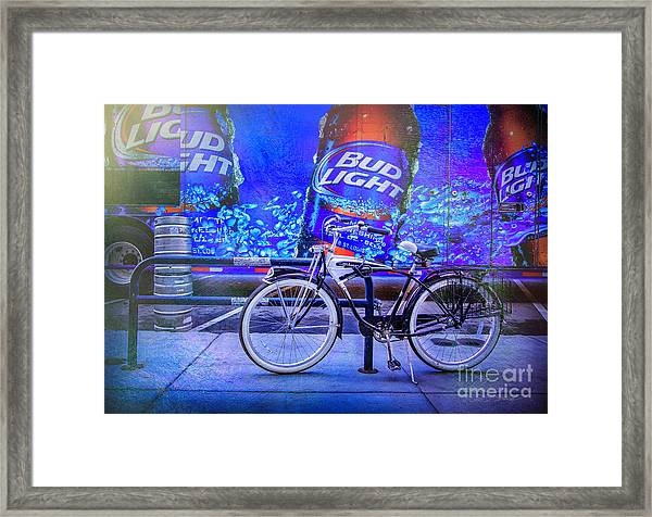 Bud Light Schwinn Bicycle Framed Print