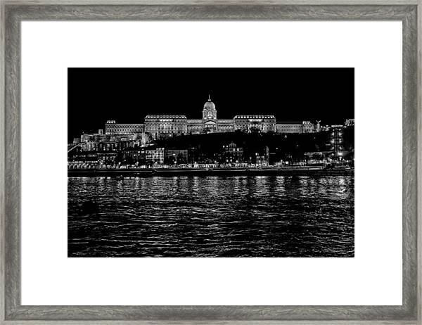 Buda Castle Over The Danube Framed Print