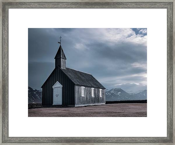 Budakirkja, The Black Church Framed Print