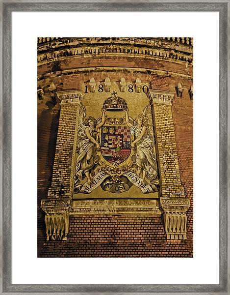 Budavari Palota Coat Of Arms Framed Print