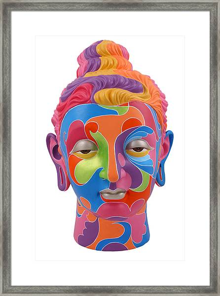 Buddha - Abstract-1 Framed Print