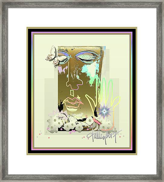 Framed Print featuring the mixed media Buddha Blessing by Larry Talley