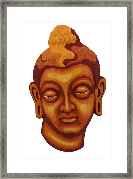 Buddha - Relief-1 Framed Print