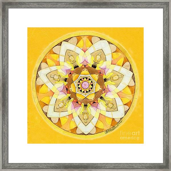 Buddha Sun Mandala Framed Print